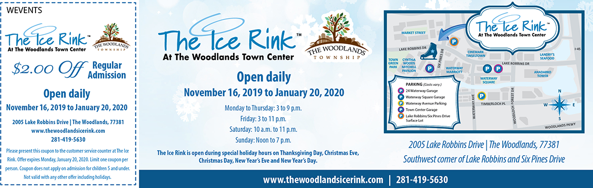 Woodlands Ice Rink Coupon