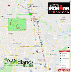 Texas Ironman Bicycle Course Map