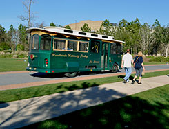 Public Trolley Service The Woodlands Texas