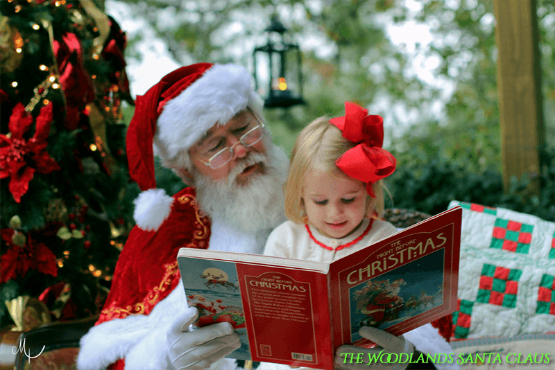 Santa Claus in The Woodlands Texas